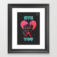 EYE ❤ YOU Framed Art Print
