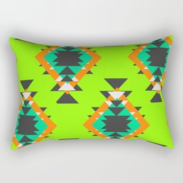 Bright shapes in neon green Rectangular Pillow