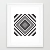 square Framed Art Prints featuring Square by Vadeco