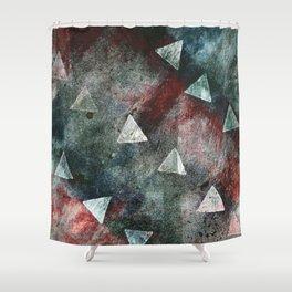 Dark Triangles Shower Curtain