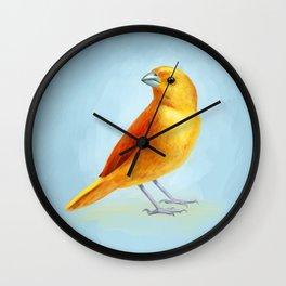 Wild Canary Wall Clock