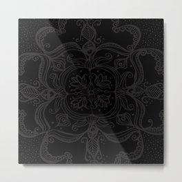 Dark Side Mandala Metal Print