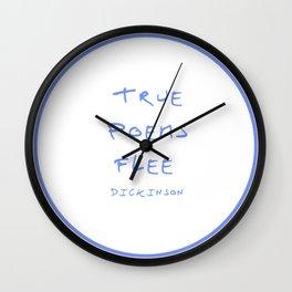 Dickinson poetry- true poems flee Wall Clock