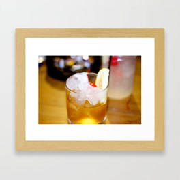 Cherry Glass. Framed Art Print