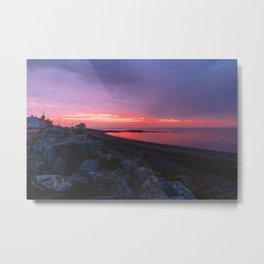 Sunset in Gaspésie Metal Print