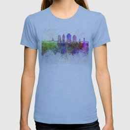 Sacramento skyline in watercolor background T-shirt