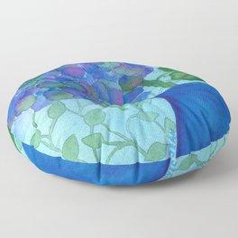 Cobalt Hydrangea Floor Pillow