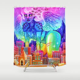 City Angel Shower Curtain