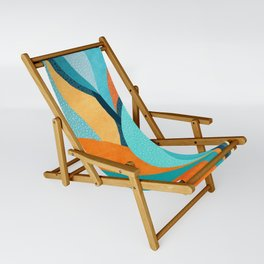 Abstract Tropical Foliage Sling Chair