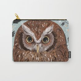Painted Owl Carry-All Pouch