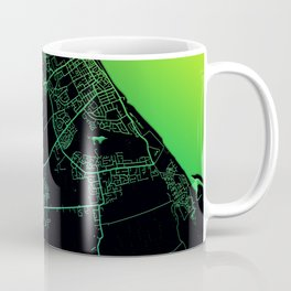 Grimsby, England, Rainbow, City, Map Coffee Mug