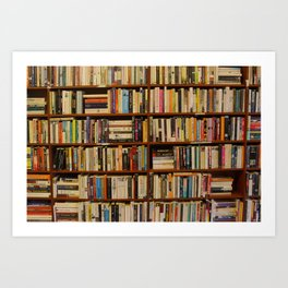 Bookshelf Books Library Bookworm Reading Art Print