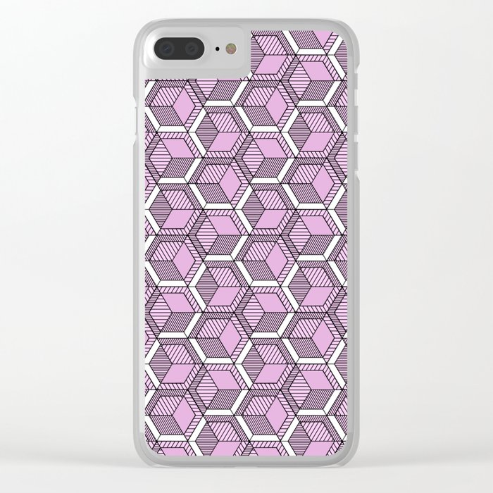 Pink and mint Clear iPhone Case