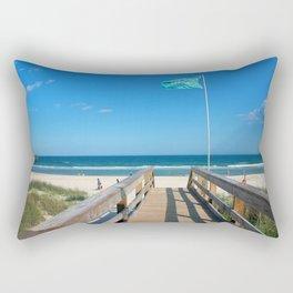 Public Beach Access Rectangular Pillow