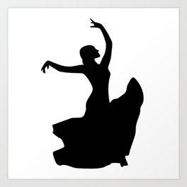 Flamenco Dancer Only Art Print