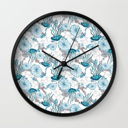 Underwater World with Jellyfishes dance Wall Clock