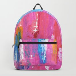 Abstract pink with fish bones Backpack