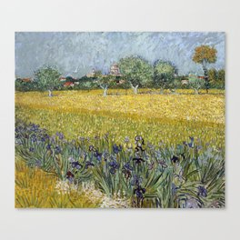 Field with flowers near Arles by Vincent van Gogh Canvas Print