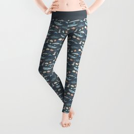 Marine Origami Animals Leggings
