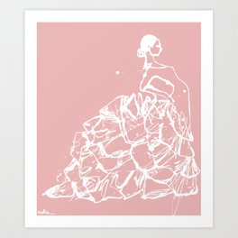 flamenco skirt Art Print