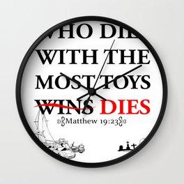 Who Dies Dies Wall Clock