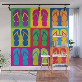 Pop Art Flip Flops Wall Mural