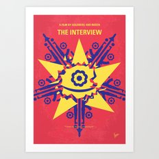 No400 My The Interview minimal movie poster Art Print