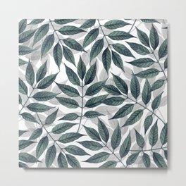 Modern autumn leaves image Metal Print