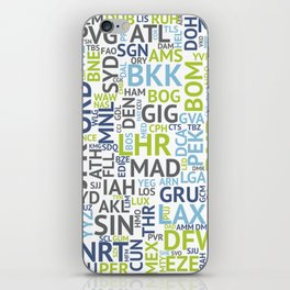 Airport Codes iPhone Skin