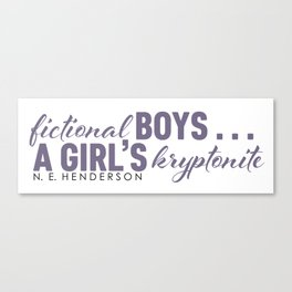Fictional Boys . . . Canvas Print