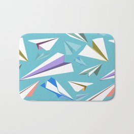 Aeroplanes - Paper Airplanes Pattern Bath Mat