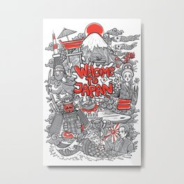 welcome to japan illustration Metal Print