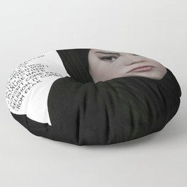 SKAM - Sana Bakkoush - All people in this world are equal Floor Pillow