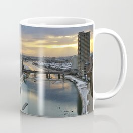 Japan city in sunrise photography Coffee Mug