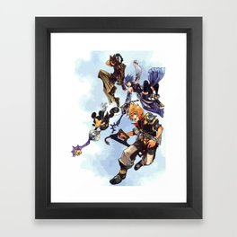 Kingdom Hearts Birth By Sleep Framed Art Print