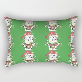 Snowbell and the Christmas lights Rectangular Pillow