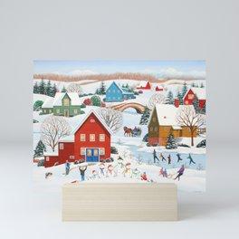 Snow Family Mini Art Print
