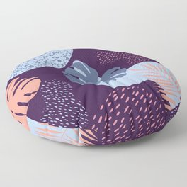 Tropical palm leaves Floor Pillow