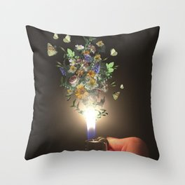Growing something from nothing Throw Pillow