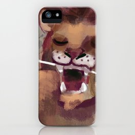 lion flossing iPhone Case
