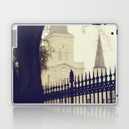 St Louis Cathedral through the trees Laptop & iPad Skin