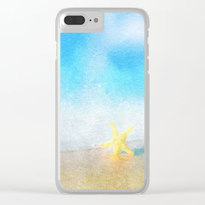 Tropical Sea #6 Clear iPhone Case