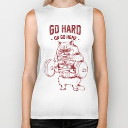 Go Hard or Go home Cat Biker Tank