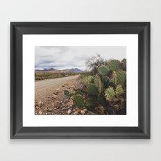 dirt roads Framed Art Print