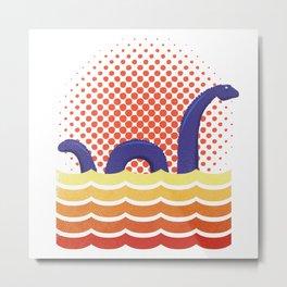 Nessie the Loch Ness Monster Metal Print