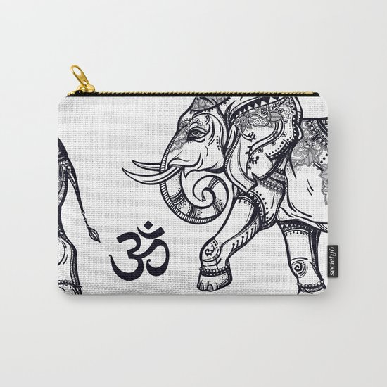Elephants Pattern Carry-All Pouch