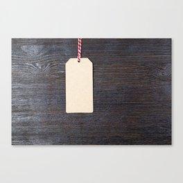 a paper tag Canvas Print