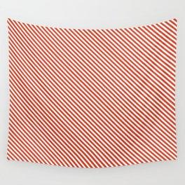Tangerine Tango Stripe Wall Tapestry