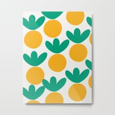 Minimalist Fruit Summer Pattern Metal Print