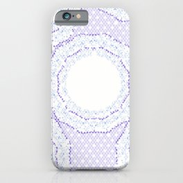 Lace Pattern Neck Gator Lacey Blue iPhone Case